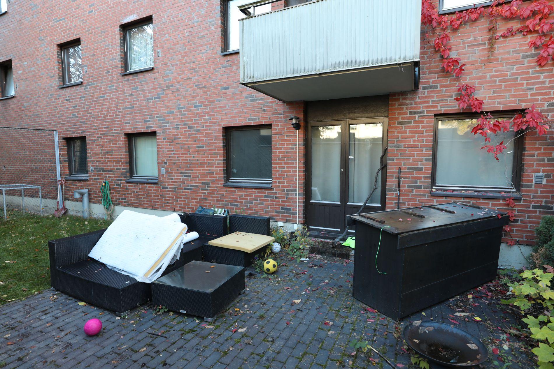 ÅSTEDET: I denne leiligheten ble Heikki Bjørklund Paltto (24) knivdrept.