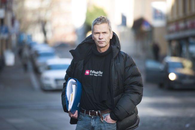 NEI, NEI: Her forklarer Boye Ullmann hvorfor Norge må ut av EØS-avtalen. Han er faglig leder i Nei til EU, og er i det daglige organisasjonsarbeider i Rørleggernes Fagforening i Fellesforbundet. FOTO: FRODE HANSEN/VG