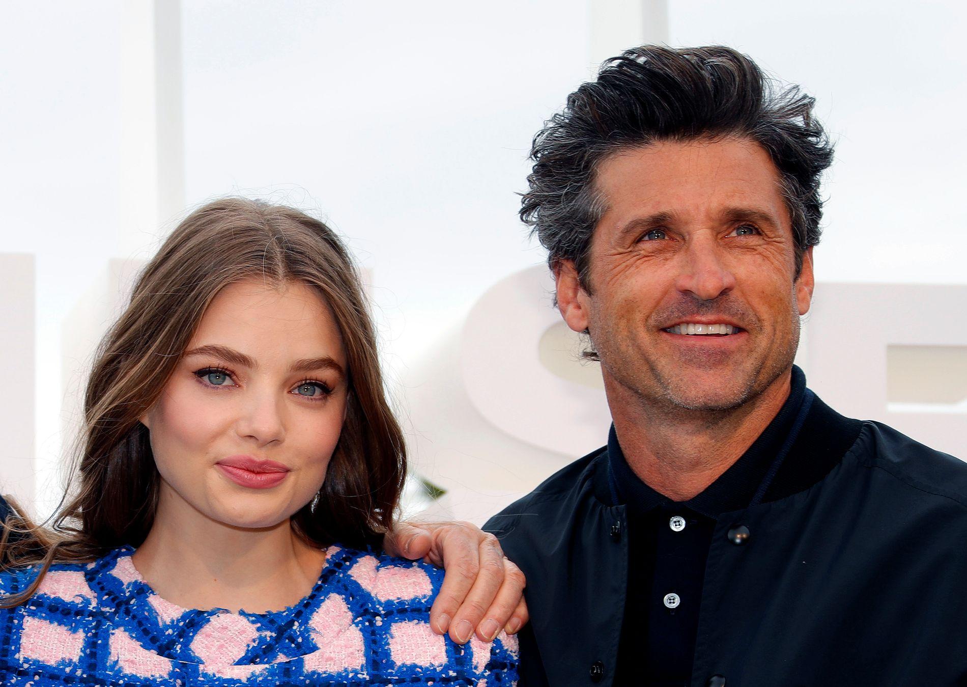 SKUESPILLER-KOMET: Kristine Frøseth, her med Patric Dempsey fra Cannes-festivalen i april.
