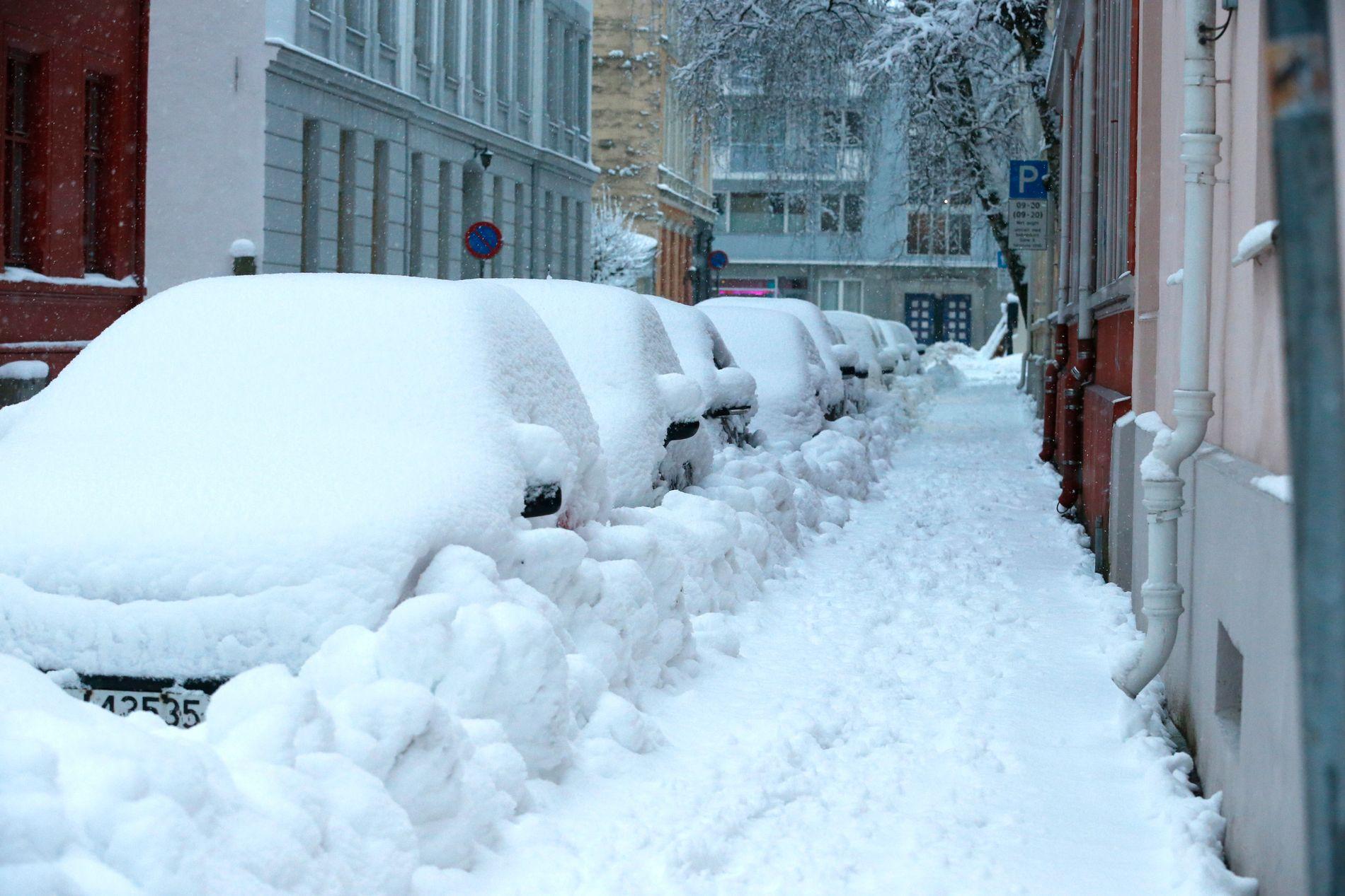 KALDT: Kombinasjonen av nedbør og lang kuldeperiode gjør at snøen ikke vil forsvinne med det første.
