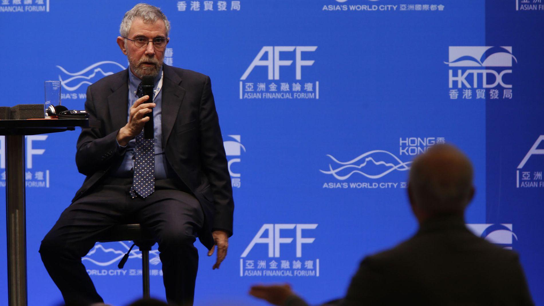 KRITISERT: Den kjente og kontroversielle Princeton-professoren og nobelprisvinneren Paul Krugman har blitt kritisert for å be den greske regjeringen avvise EUs sparekrav.