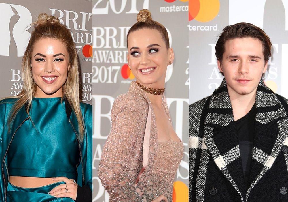 STJERNER: Julie Bergan gikk opp samme røde løper som Katy Perry og Brooklyn Beckham på O2 Arena i London før Brit Awards i kveld.
