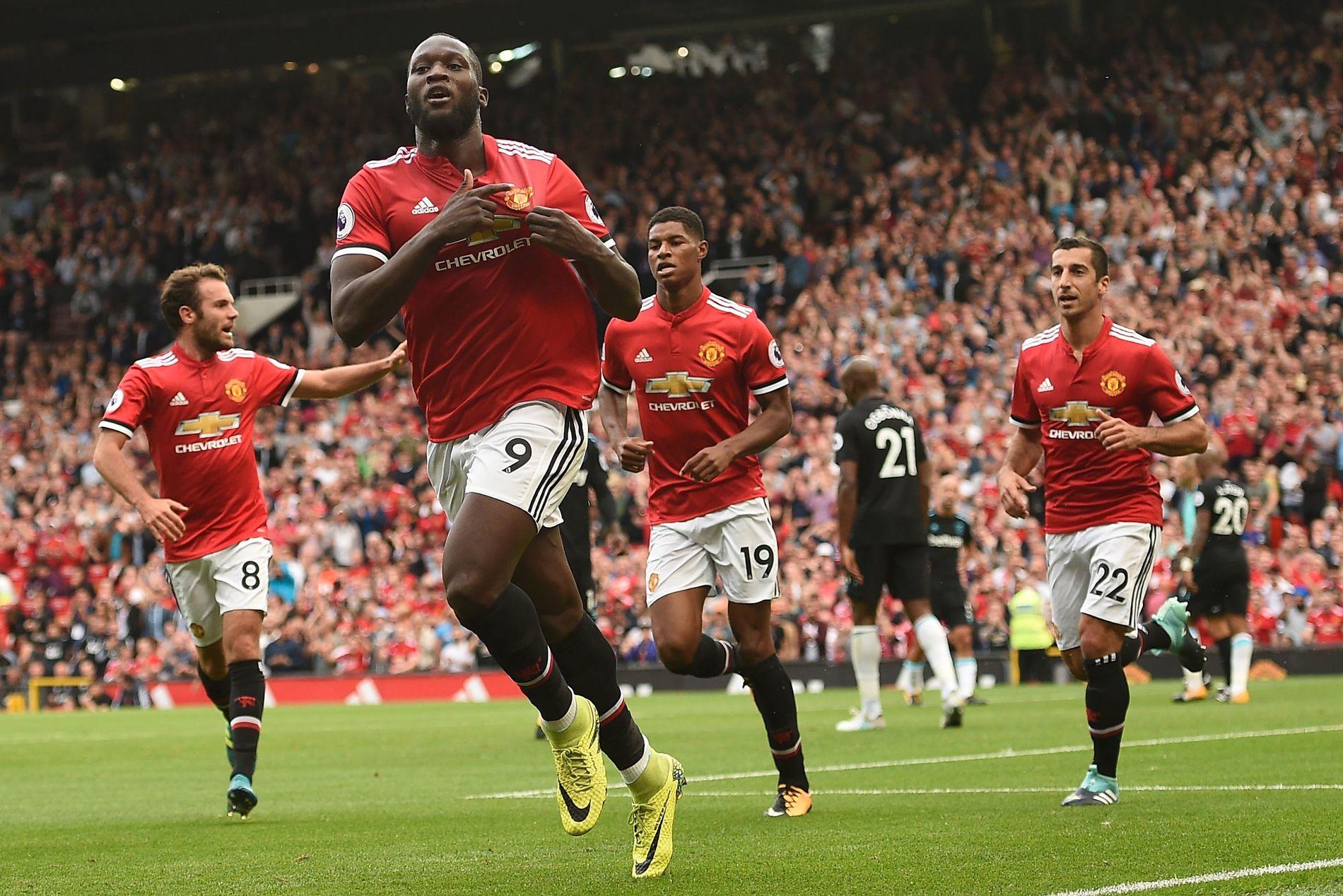 SUPERSPISS: Romelu Lukaku fikk en drømmekveld sammen med angrepsrekken til Manchester United.