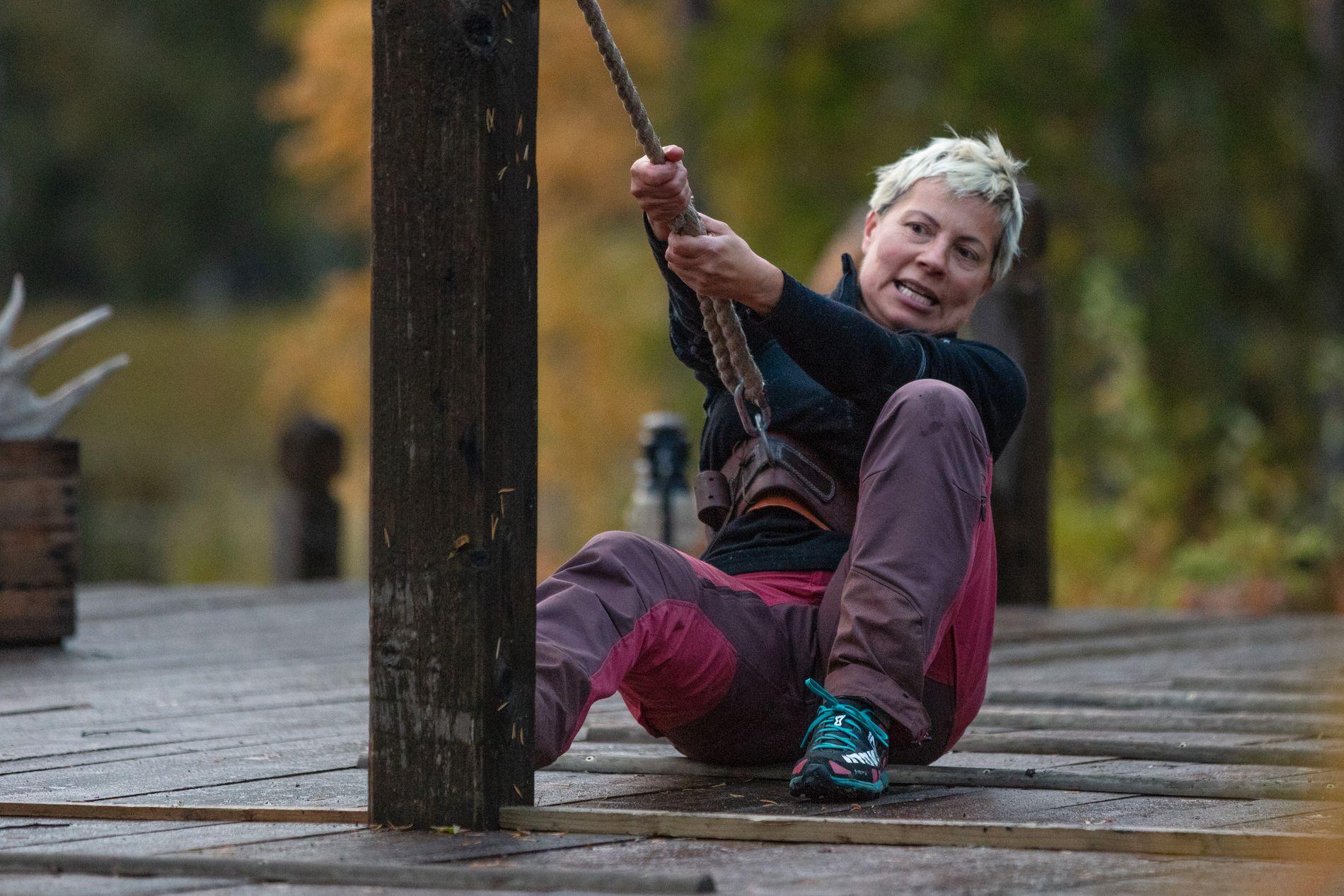 HOLDT LENGE: Sølvi Monsen røk opprinnelig ut av «Farmen» i uke 6, men vant sidekonkurransen «Torpet» og kom inn igjen på gården i uke 8. I uke 10 måtte hun omsider gi tapt, da hun tapte tautrekkingstvekampen mot Lene Sleperud (29).