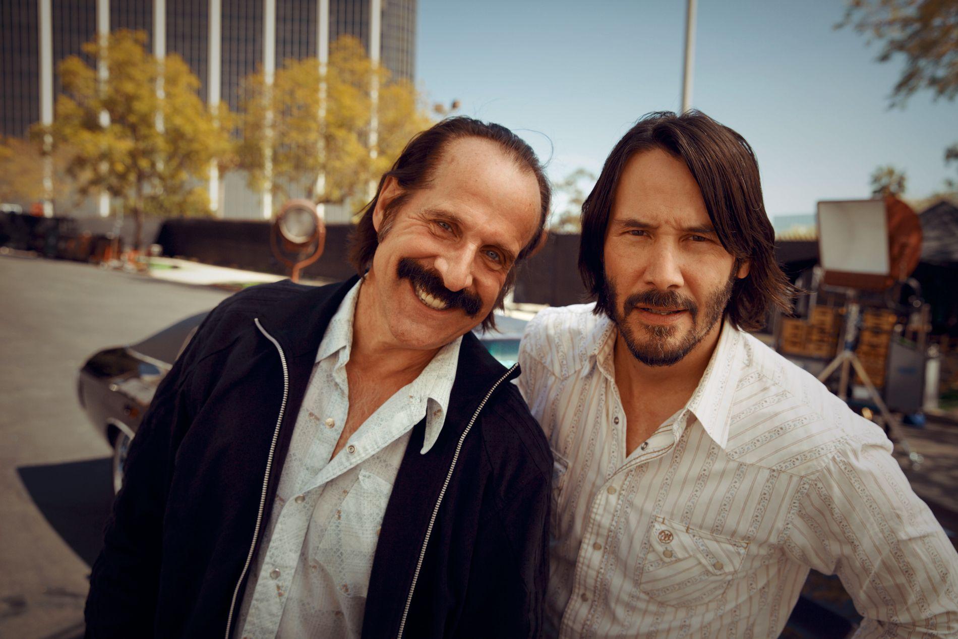 SPILLER KOLLEGER: Peter Stormare og Keanu Reeves spiller eks-stuntmenn i «Swedish Dicks».