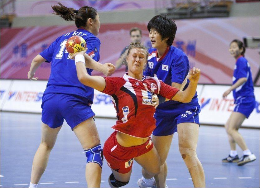 SLET: Marit Malm Frafjord og Norge tapte sin første kamp i VM i dag. Foto: Scanpix