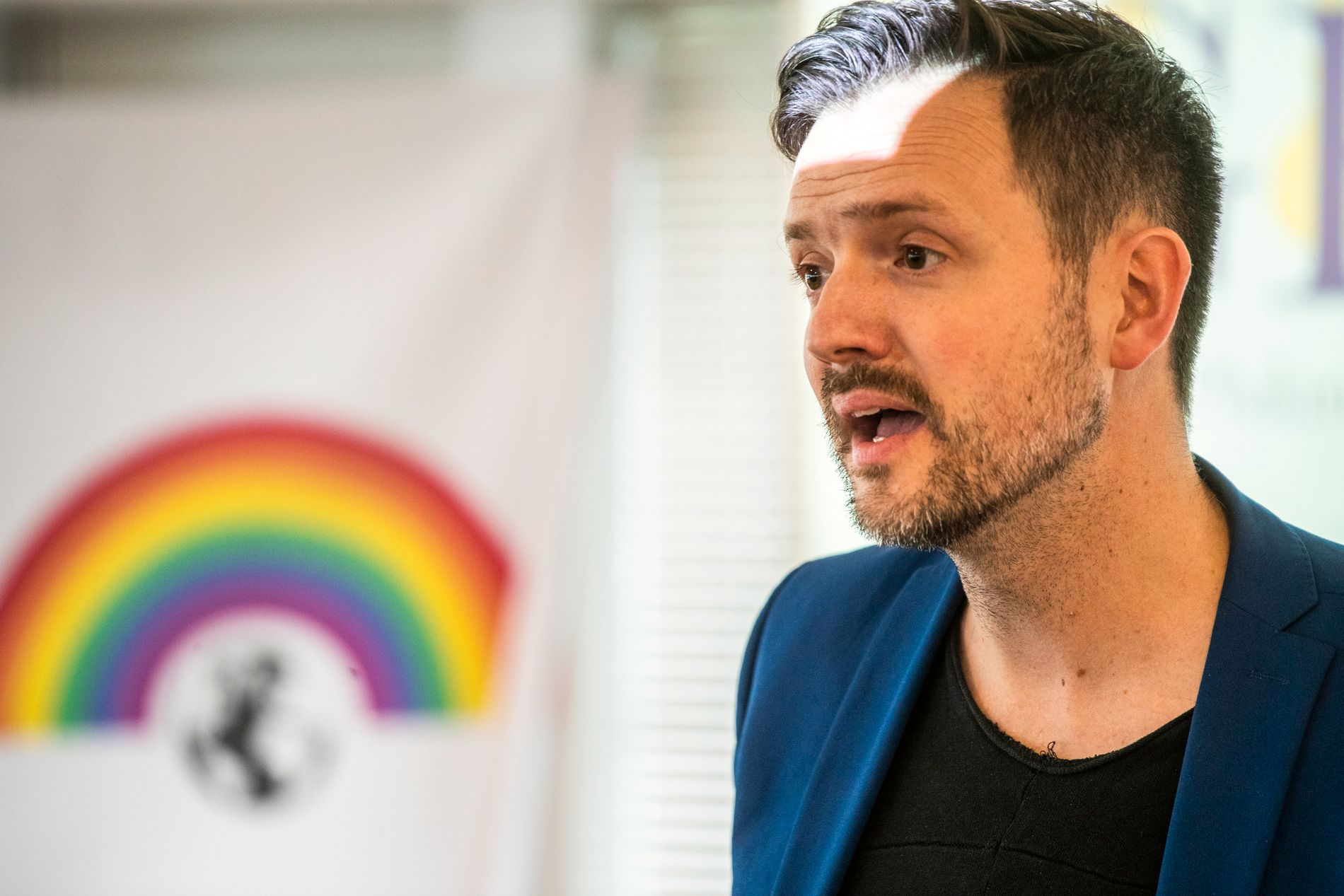 APPELL: Utviklingsminister Dag Inge Ulstein markerte Pride på et seminar hos Norad sist fredag.