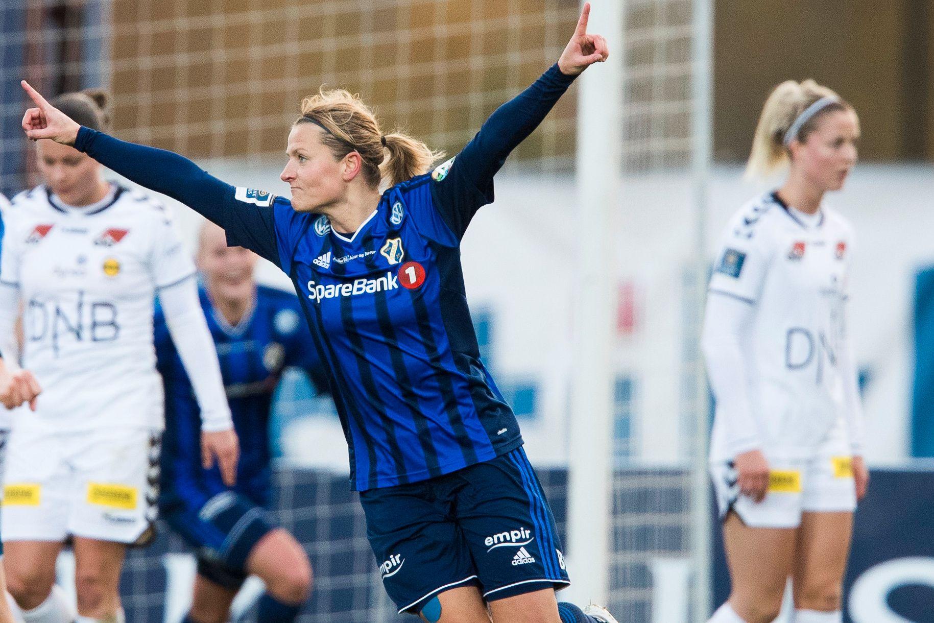 LEGENDE: Trine Rønning scoret for Stabæk i sin siste kamp i karrieren. Det betyr at hun avslutter med bronse. Tidligere har hun seks seriegull. Bildet er fra en kamp mot LSK.