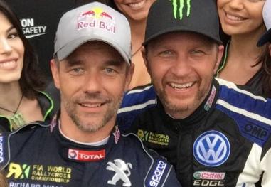 RIVALER: Sebastien Loeb og Petter Solberg.
