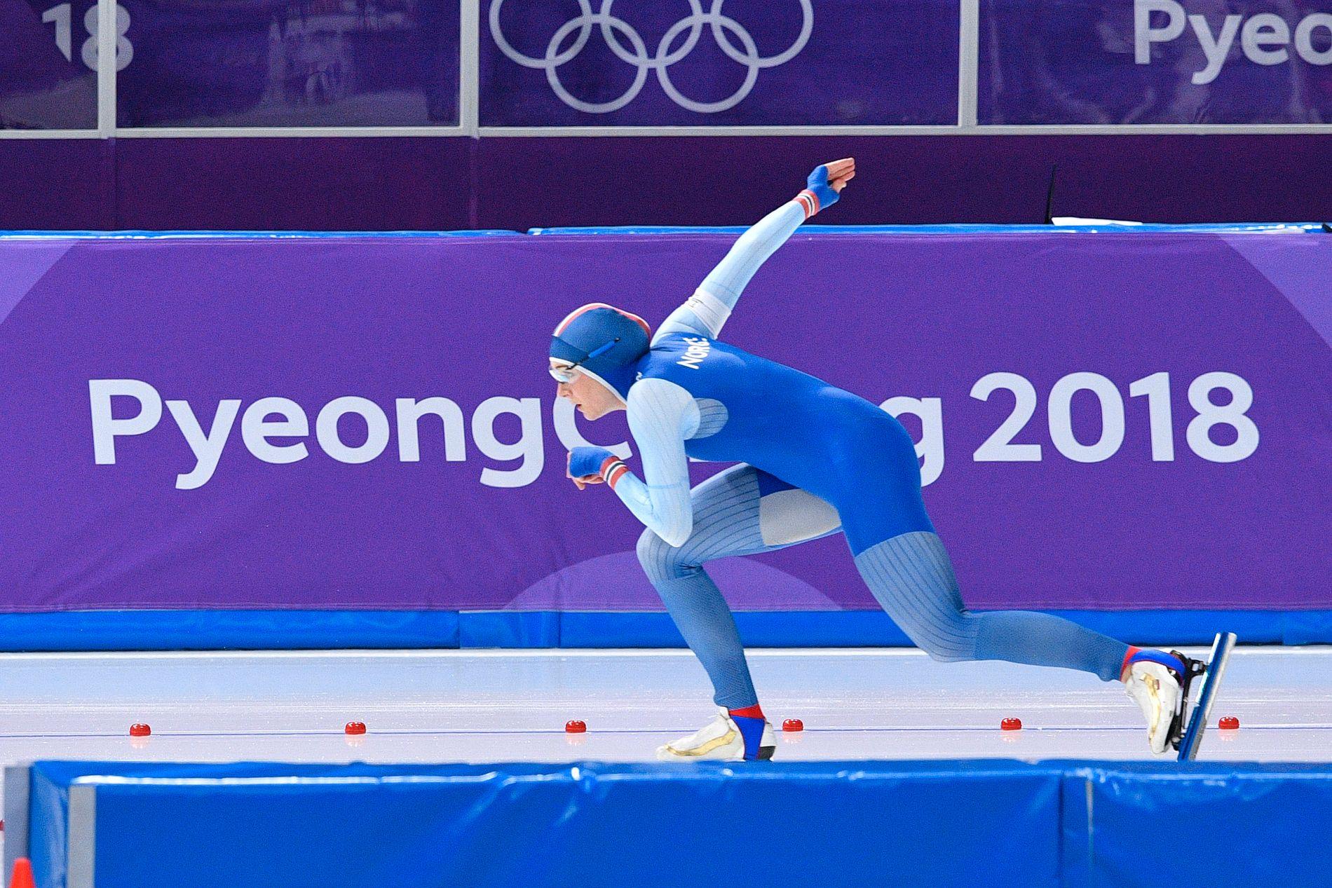 SKUFFET: Hege Bøkko endte på 14. plass på 1000 meteren i Pyeongchang.