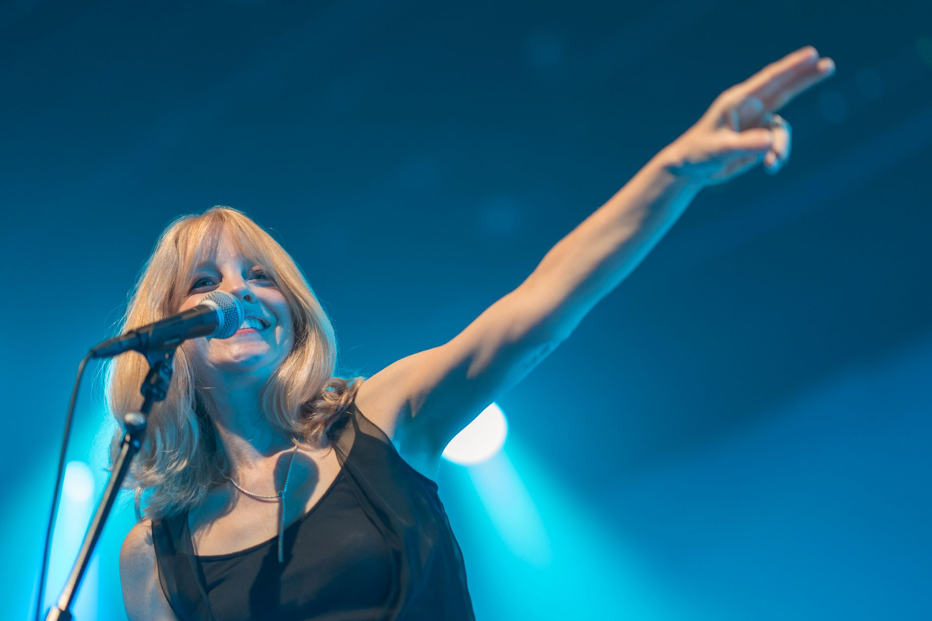 URFREMFØRING: Maria Schneider skrev sangen Sue (Or In a Season of Crime) sammen med David Bowie. Mandag kveld ble den fremført for første gang.