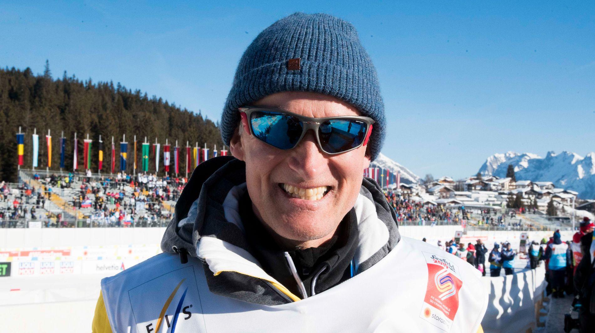 JA FRA ULVANG: Skihelt Vegard Ulvang (55) fotografert under ski-VM i Seefeld i februar.
