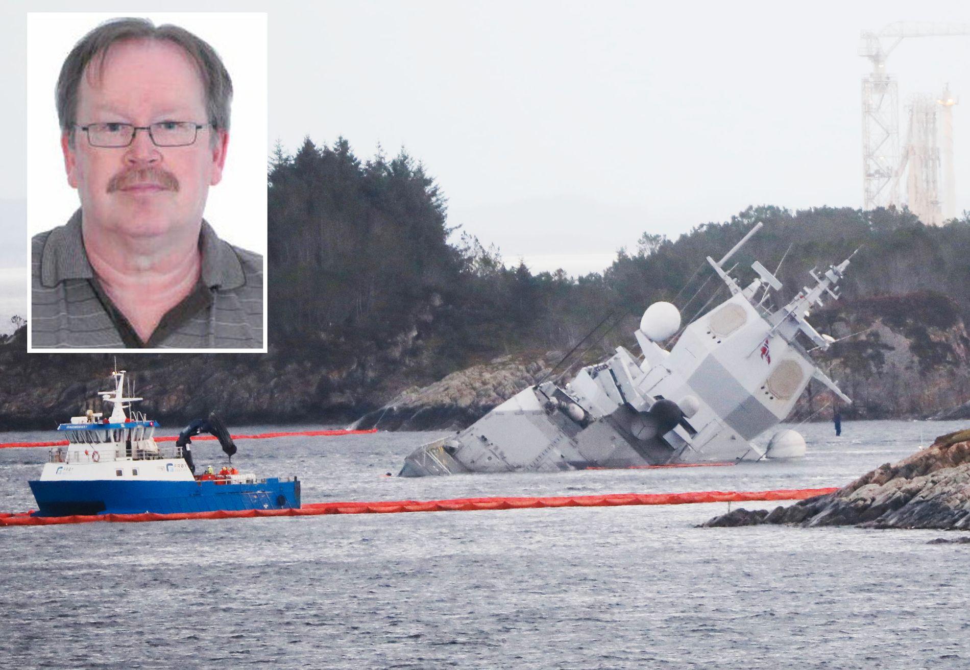 ERFAREN: Kaptein og navigatør  Geir S. Eilertsen, som også har mer enn 40 års erfaring på sjøen. Han reagerer kraftig på det som kommer frem i lydloggen og på radarbildene fra ulykken som fant sted torsdag natt.