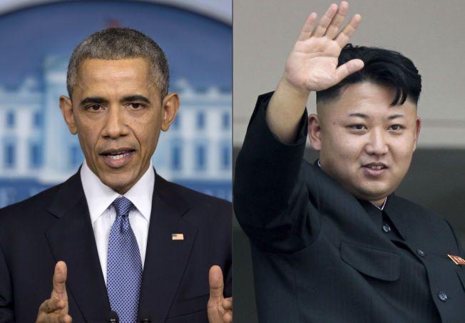 HACKER-STRID: President Barack Obama har innført nye sansksjoner mot Kim Jong Un og Nord-Korea etter hackerangrepet mot Sony. Den unge lederen nekter på sin side for å ha noe med angrepet å gjøre.
