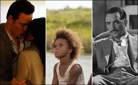 TOPPFILMER: «Shame», «Beasts of the Southern Wild» og «The Artist» topper VGs liste over fjorårets beste filmer. Foto: ARTHAUS, FOX / AP og THE WEINSTEIN COMPANY.