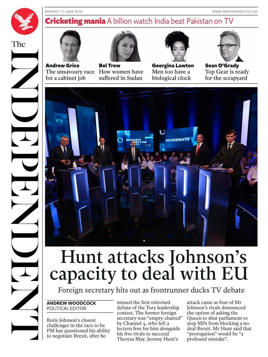 HUNT PÅ JAKT: Utenriksminister Jeremy Hunt langer ut mot favoritten Boris Johnson.