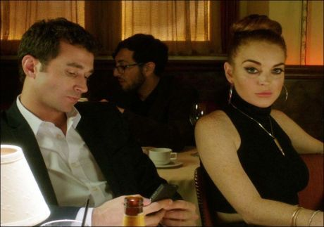 THRILLER: Lindsay Lohan og James Deen i en scene fra «The Canyons». Foto: AP