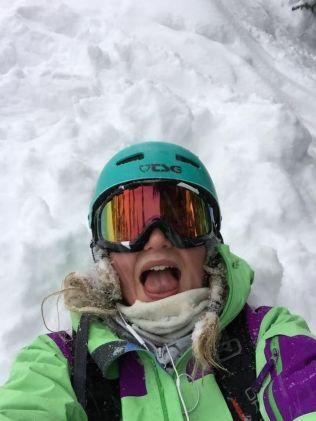 SKIENTUSIAST: Julie Marie Abrahamsen (21) elsker å stå på ski.