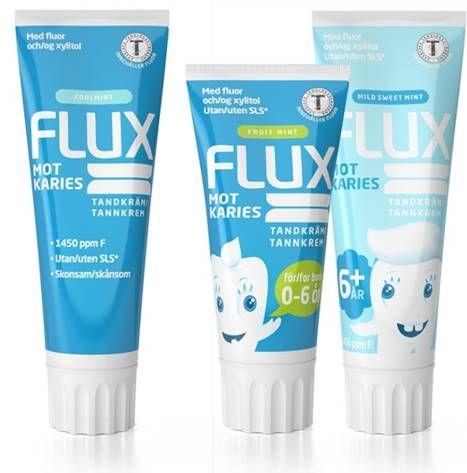 HELT TRYGT: Flux tannkrem fås kjøpt på apoteket og inneholder verken såpe, mikroplast eller andre unødvendige tilsetningsstoffer.