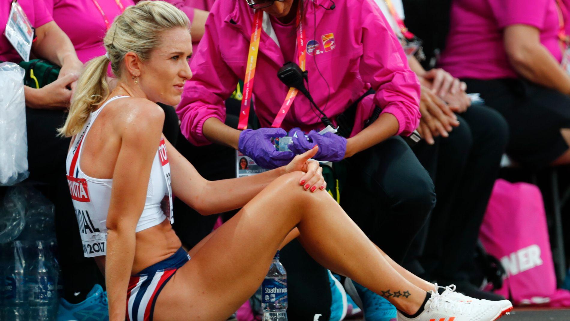 BRØT: Karoline Bjerkeli Grøvdal har slitt med en forkjølelse, og fullførte ikke 5000 meteren i VM.