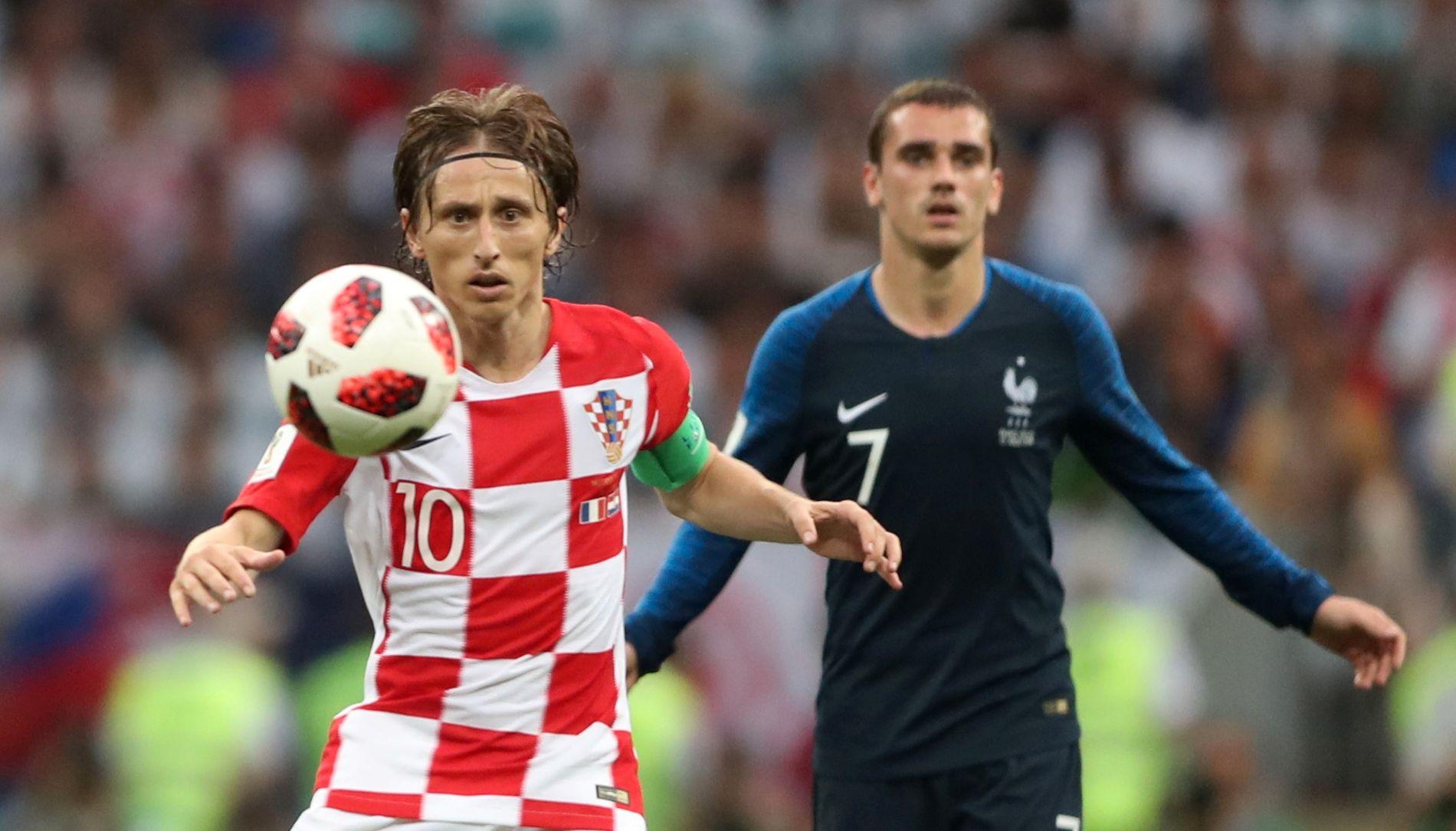 PÅ VGs VM-LAG: Luka Modric og Antoine Griezmann.