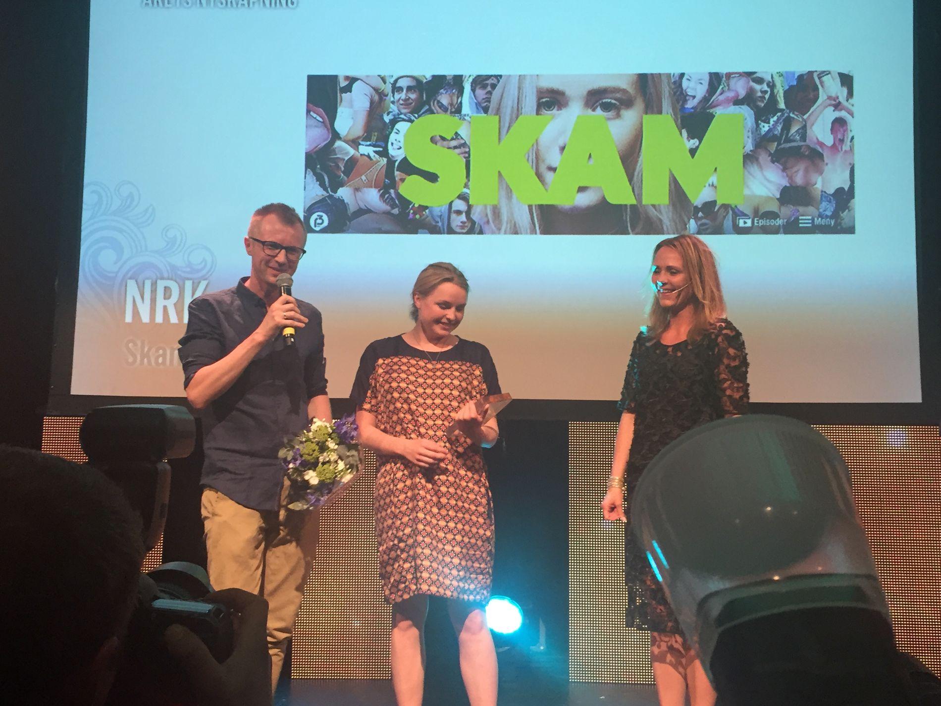 ÅRETS NYSKAPNING: SKAM fra NRK har blitt svært populært, noe som også juryen la vekt på da programmet ble tildelt prisen for årets nyskapning.