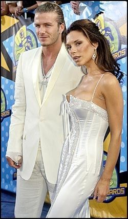 LYKKELIG FASADE: David og Victoria Beckham. Foto: AP