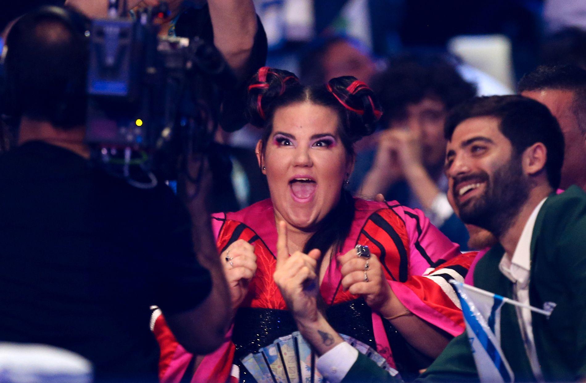 VINNERFJESET: Slik så Netta Barzilai da seieren var et faktum.