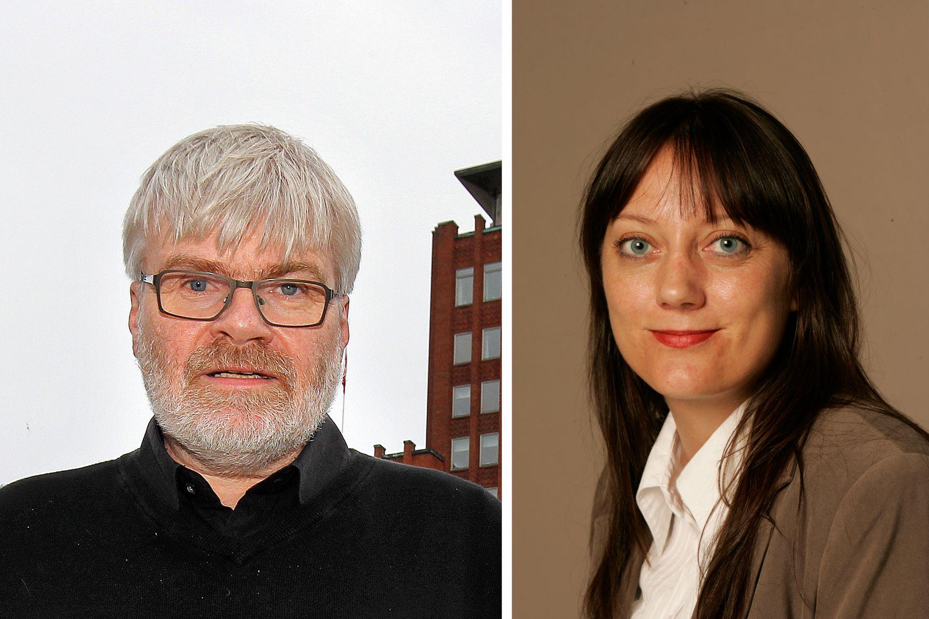 I KONFLIKT: Etter et kontroversielt innlegg fra Leif Sande la kommunikasjonsrådgiver Anne Odden ut et bilde av ham med en blink på brystet.
