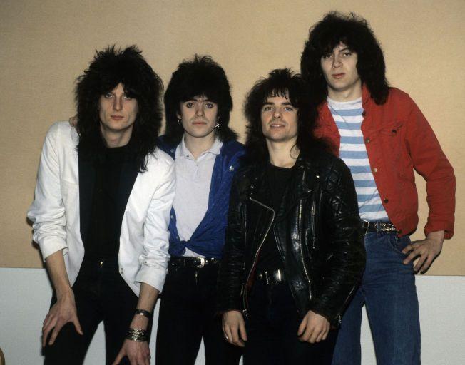 DE FØRSTE GLANSDAGENE: Backstreet Girls, like før gjennombruddet i 1987. Fra venstre: Bjørn Müller, Petter Baarli, Bjørn Terje Baarli og Pål Kristensen.