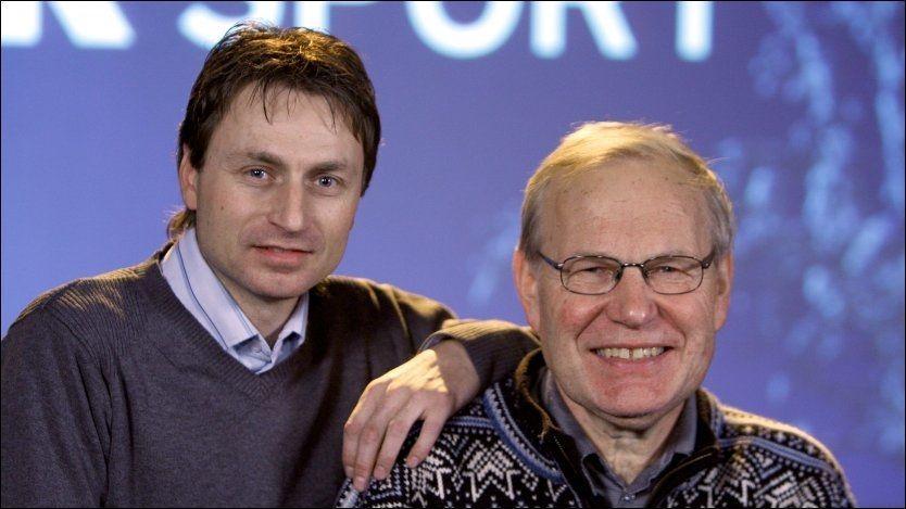 FULL FORVIRRING: Arne Scheie gikk fra skuffelse til vill glede da han og makker Espen Bredesen fant ut at Tom Hilde hadde vunnet i Bischofshofen. Foto: Scanpix