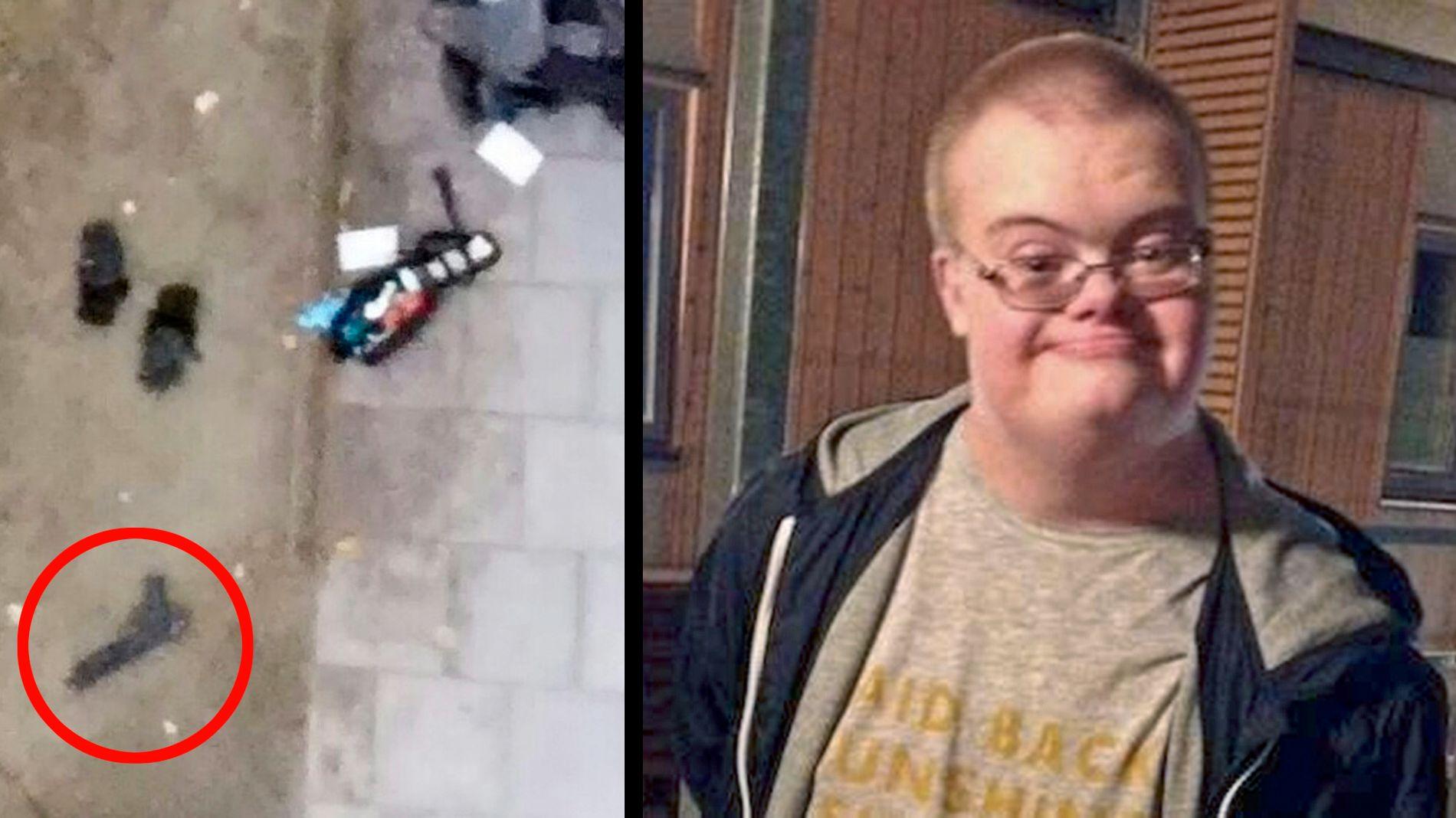 «VÅPENET»: Bildet til venstre skal vise lekepistolen Eric Torell hadde med seg da han møtte politiet torsdag morgen i forrige uke. Politiet opplevde situasjonen som truende og skjøt 20-åringen.