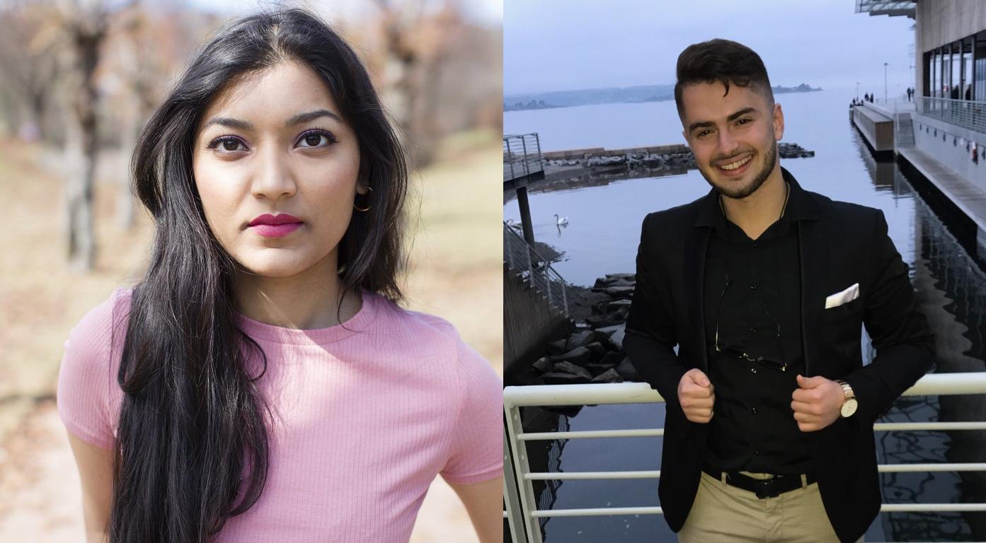 LEI: Sarah Zahid (tv.) og Enis Kastrati (th.) liker dårlig måten hjemstedene deres brukes i debatten om Oslo.
