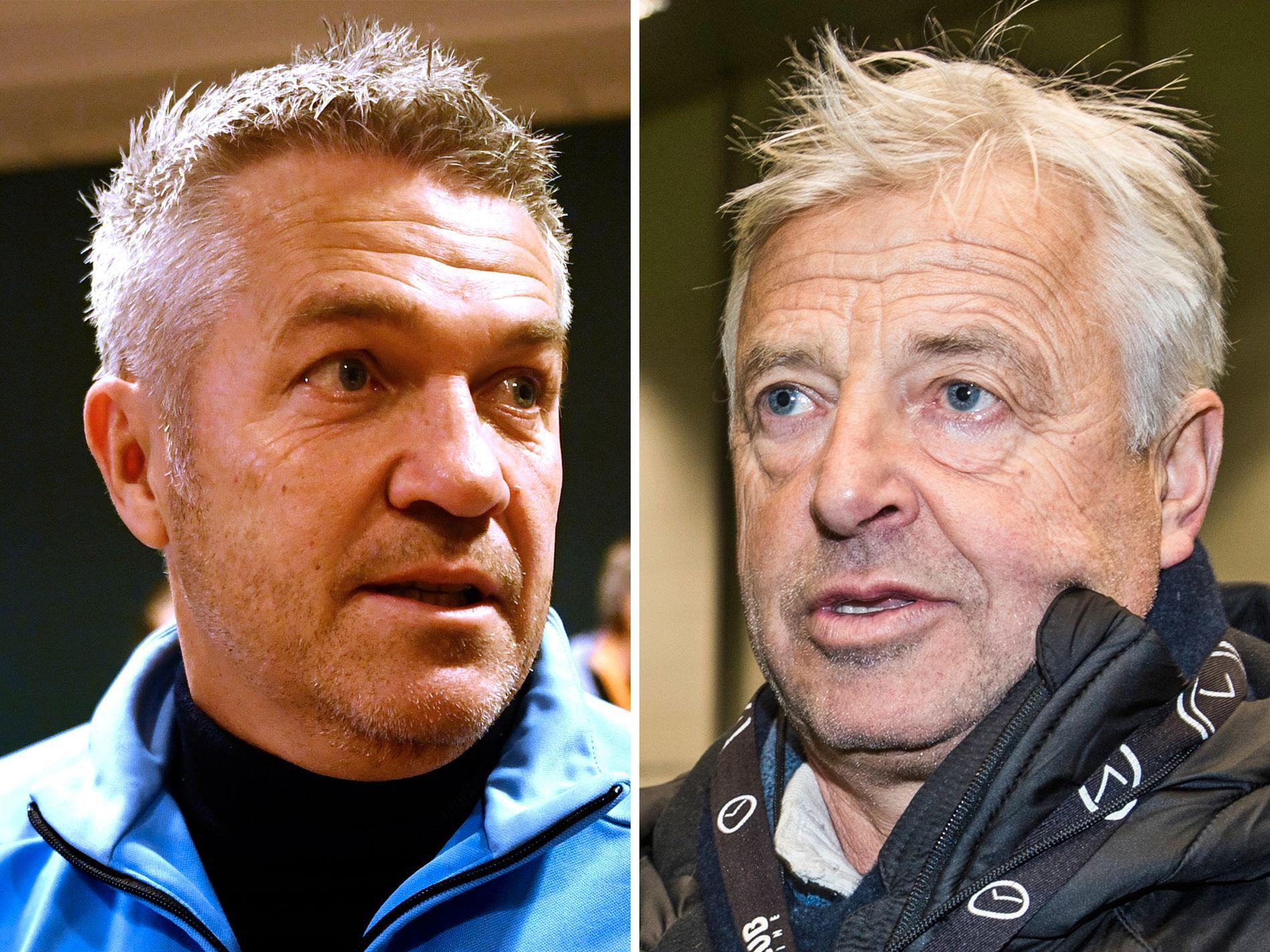 ULIKE MENINGER: RBK-trener Kåre Ingebrigtsen og LSK-sjef Arne Erlandsen har forskjellig syn på hva som er bra for norsk fotball.