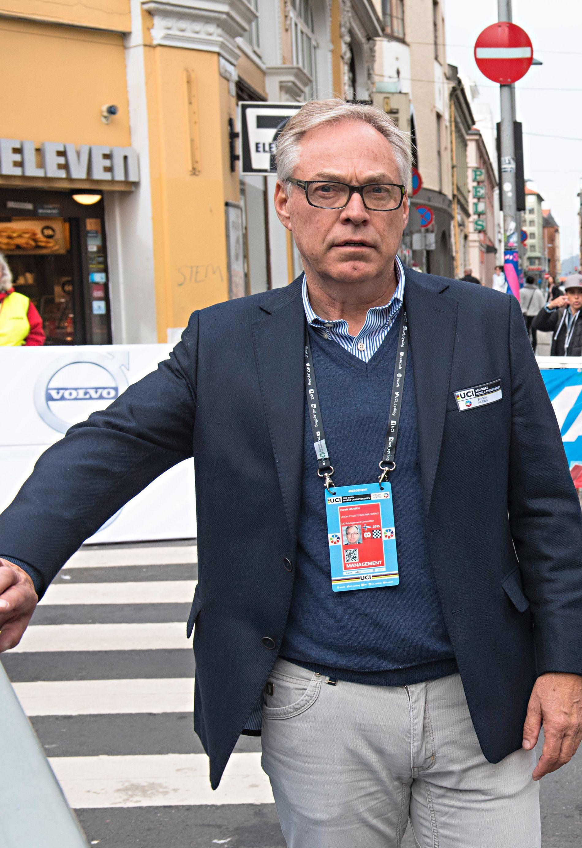 VM-SJEF OG SYKKELPRESIDENT: Harald Tiedemann Hansen.