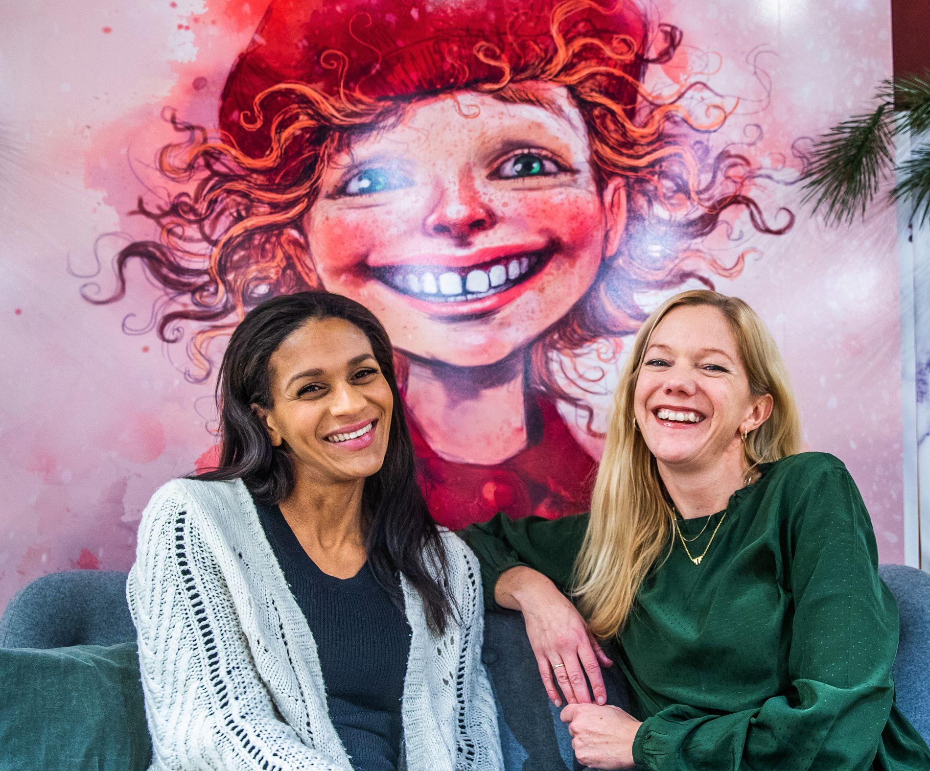 FULL JUBEL: Lisa Aisato og Maja Lunde har inngått en avtale med Kagge forlag om en vårbok, en sommerbok og en høstbok i samme format som den enorme juleboksuksessen «Snøsøsteren».