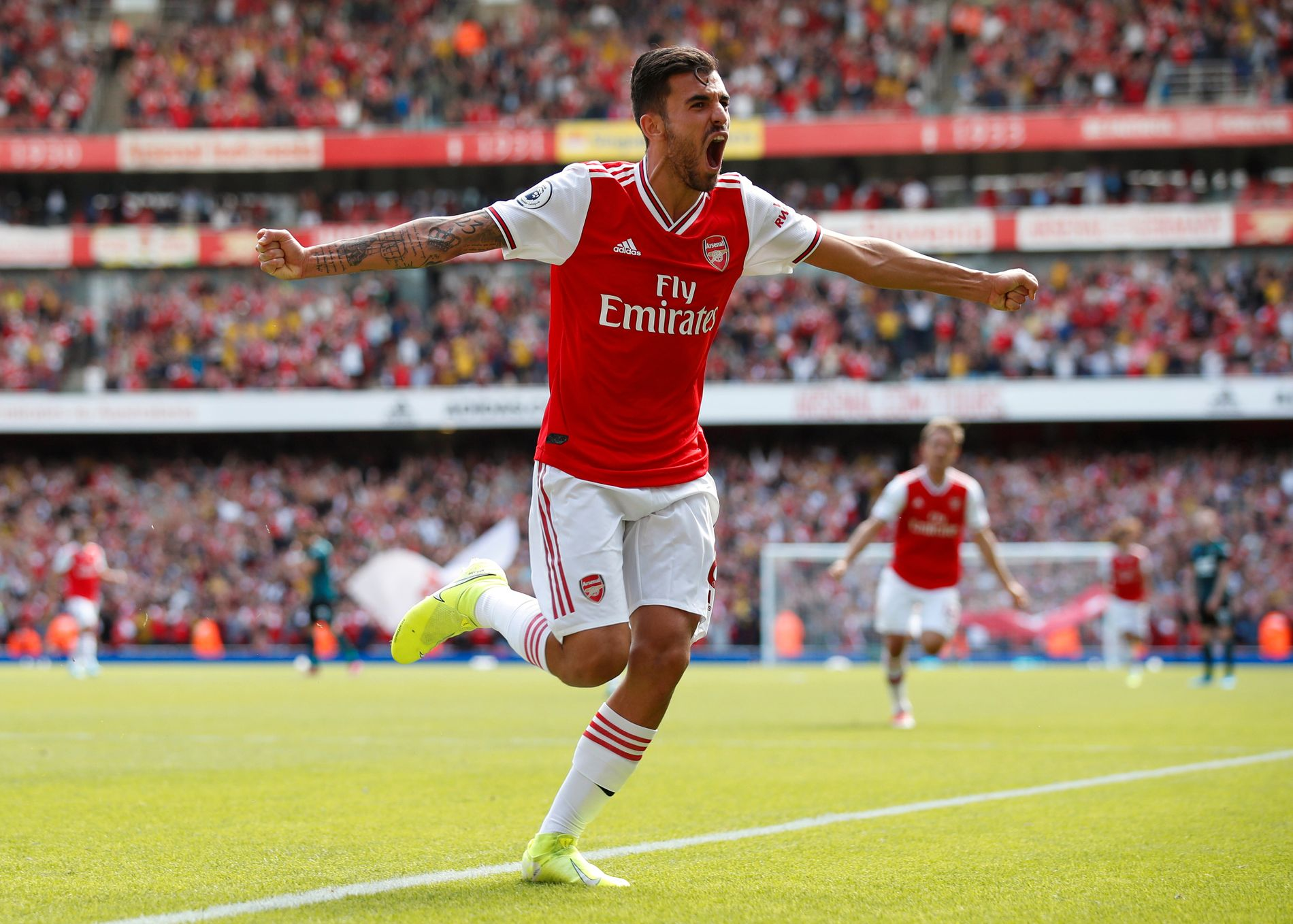 THE NEW WHOLE: Danny Chebalo is delighted with Arsenal's 2-1 result, which he was second to last.