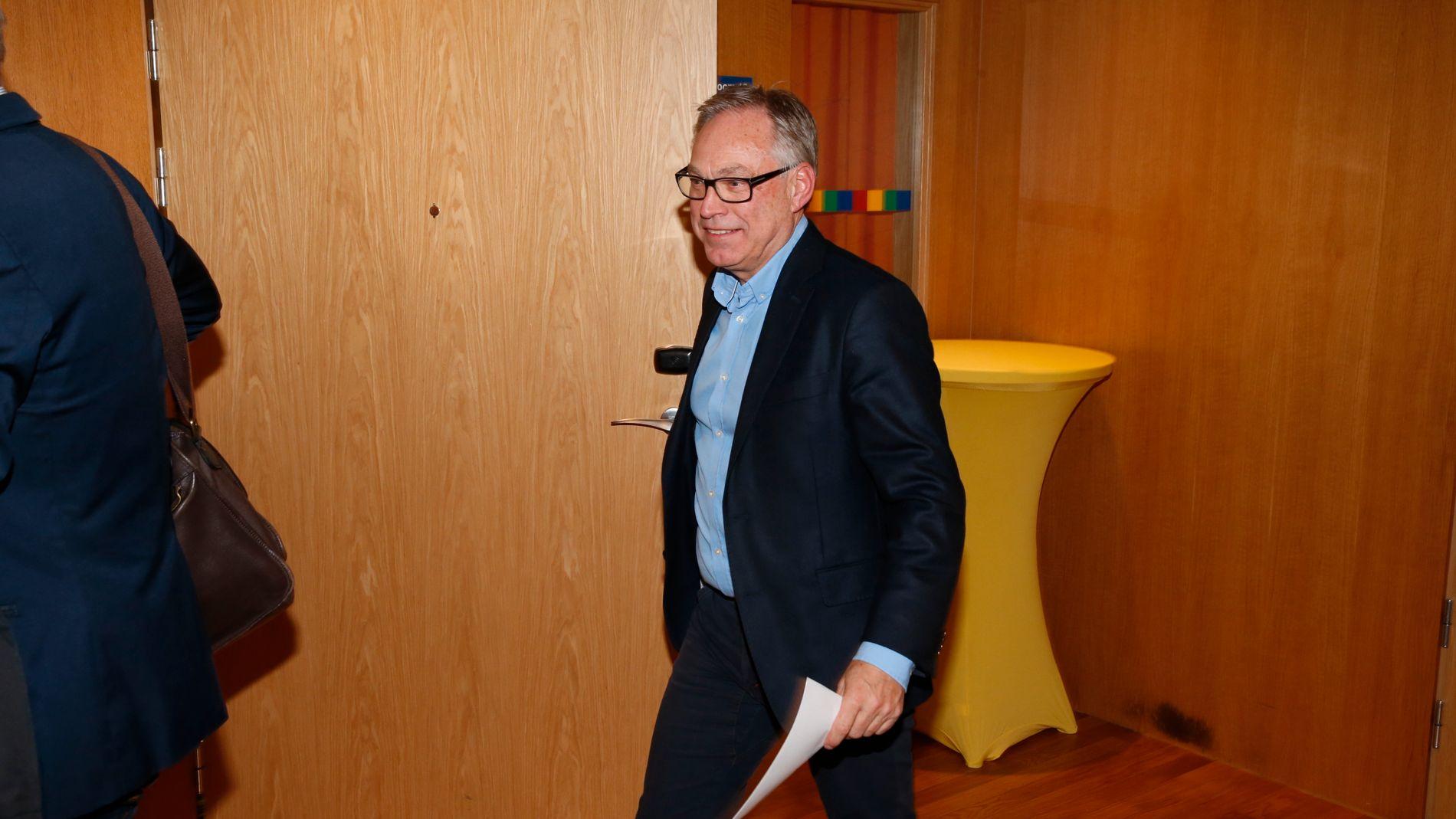 PRESIDENT: President i Norges Cykleforbund, Harald Tiedemann Hansen, etter fredagens styremøte på Gardermoen.