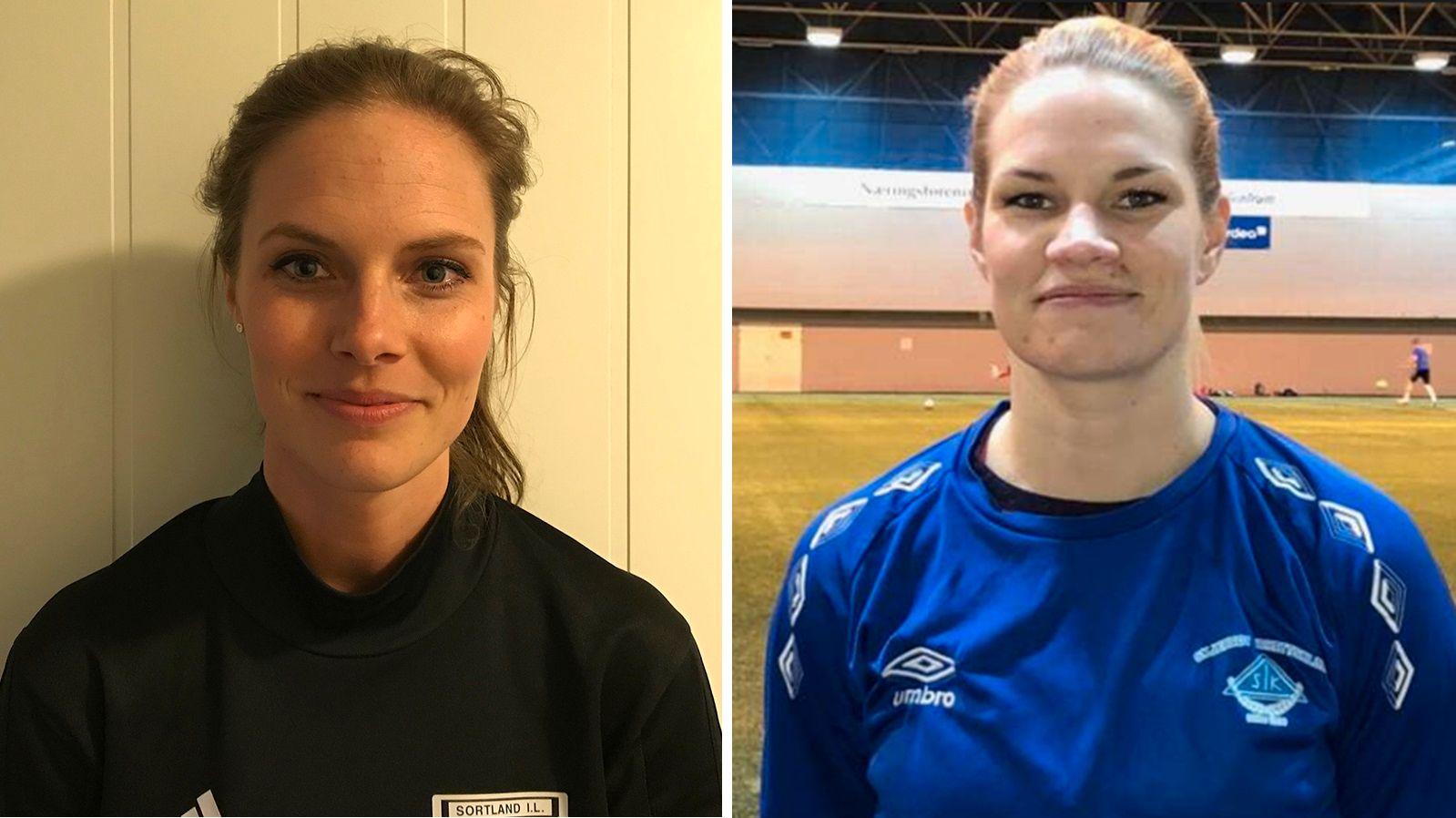 MØTES SNART: Julie Voktor Pedersen og Eline Torneus skal snart lede hvert sitt lag når Sortland og Skjervøy møtes i 3.divisjon.