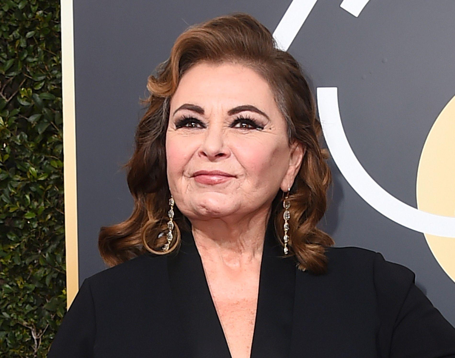 FIKK SPARKEN: Roseanne Barr, her på Golden Globe-utdelingen i Beverly Hills 7. januar.