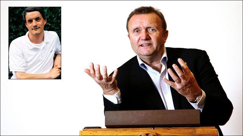 IMPONERT: Kommunikasjonsekspert Kjell Terje Ringdal mener Kagge forlag har gjort alt riktig rent PR-messig. - Jeg har selv lest interne møtereferater fra her på Dinamo i bøkene, og ser nå at det har vært mulig å formidle det møte uten at de kom lekkasjer, sier han imponert. Audun Vinger (innfelt) er også imponert over Kagges mediestrategi.