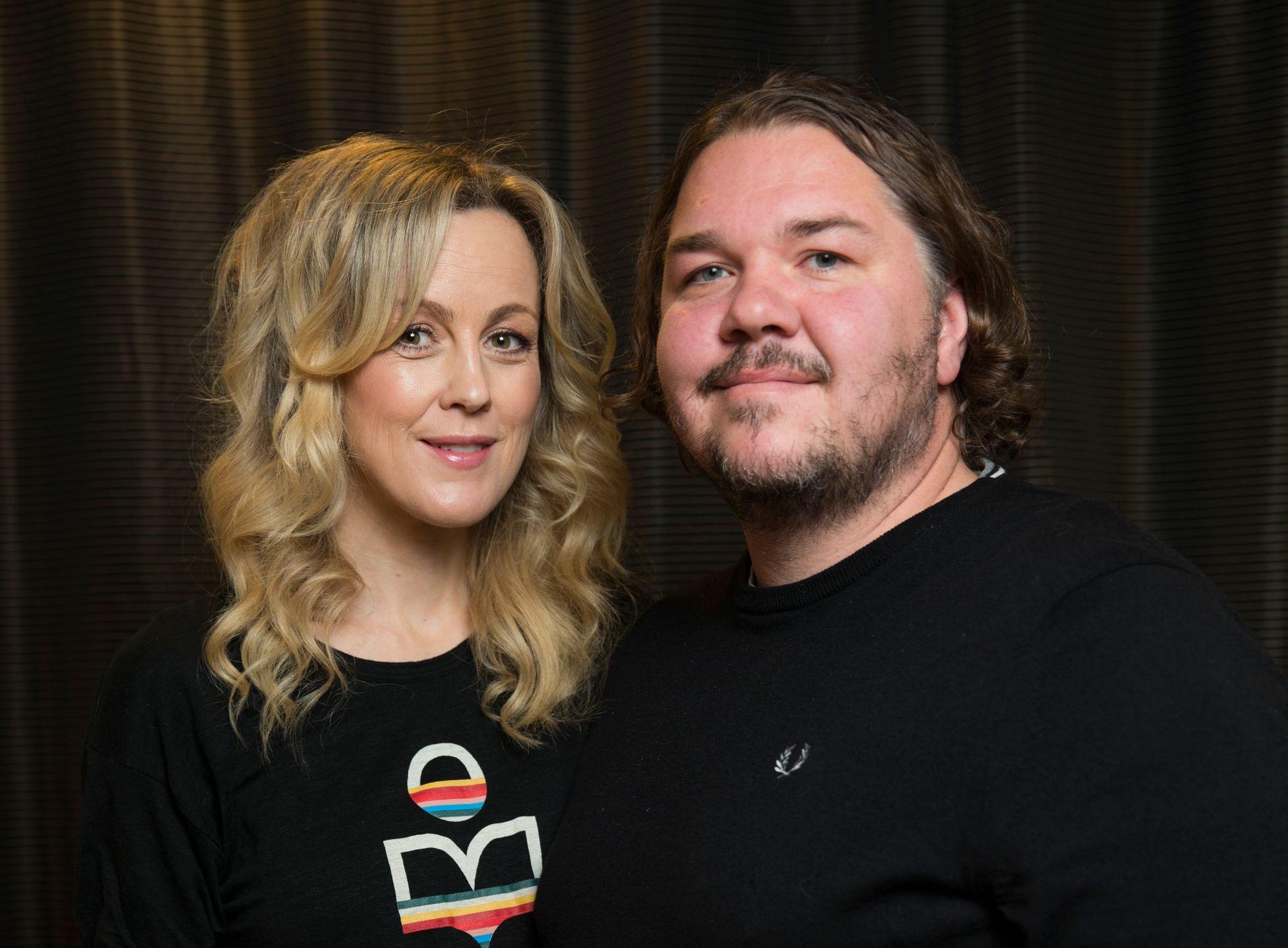 SAMMEN PÅ JOBB: Skuespillerne Marian Saastad Ottesen og Nils Jørgen Kaalstad under pressetreff for «Vikingane» fredag.