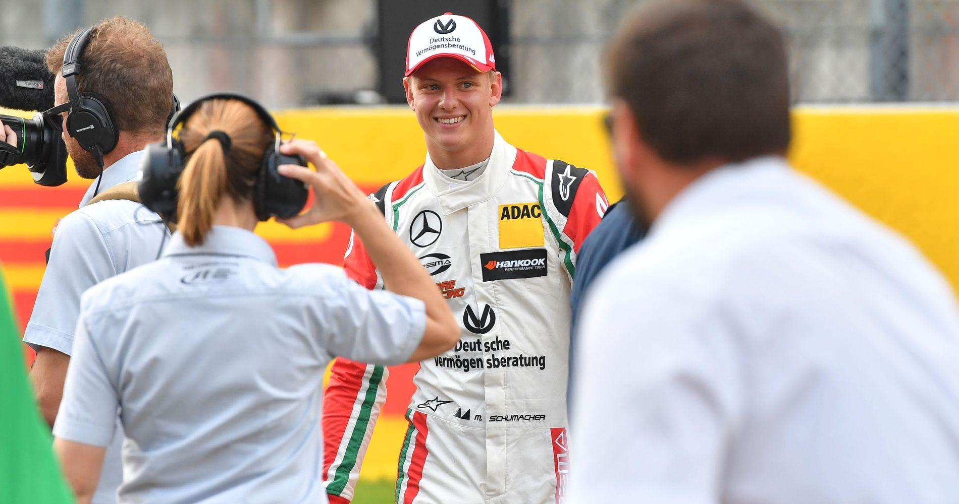 SUKSESS: Mick Schumacher har vunnet to løp i den europeiske Formel3-serien denne sesongen. Han ønsker å følge i farens fotspor.