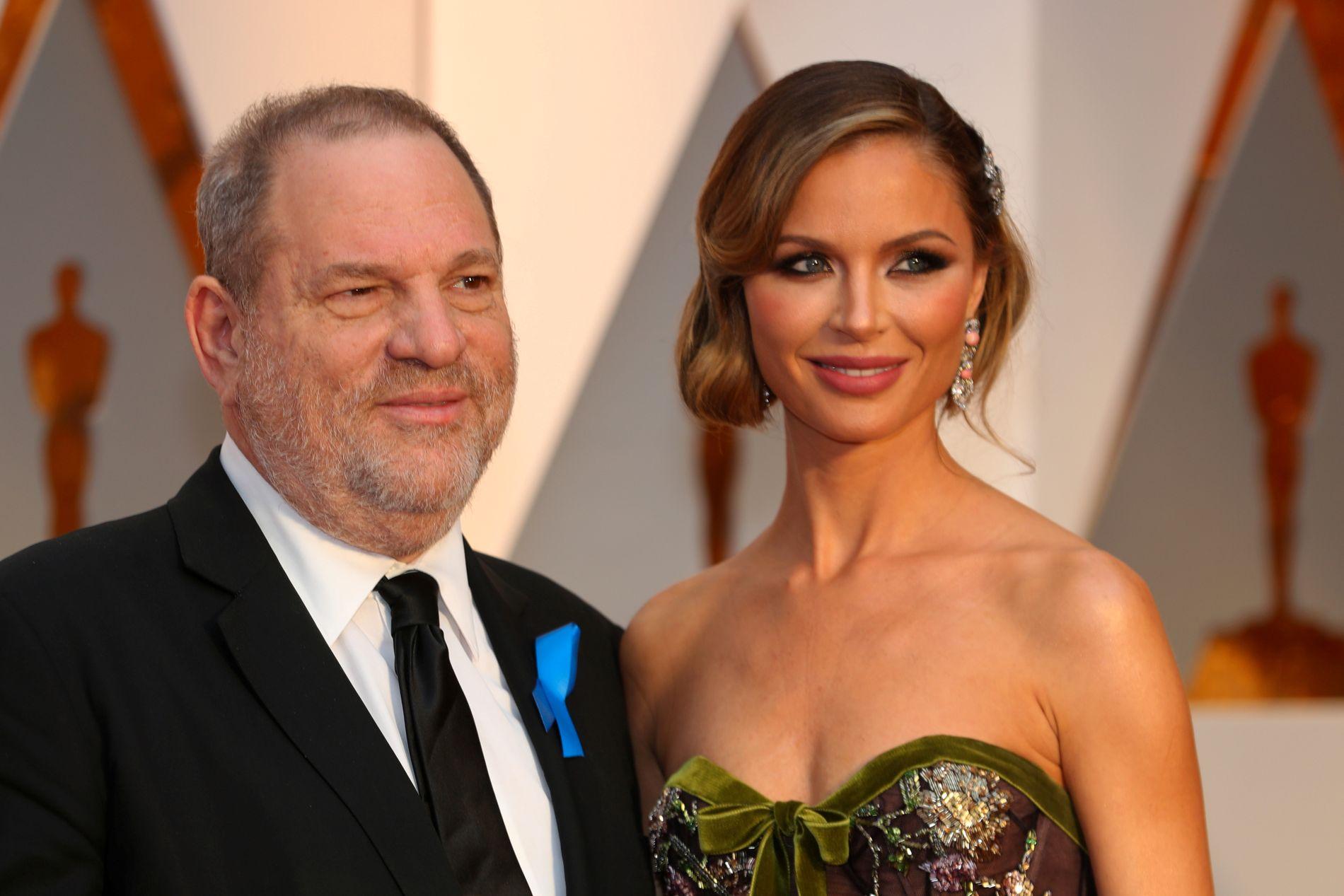 EKSER: Harvey Weinstein og kona Georgina Chapman på Oscar-utdelingen i 2017.
