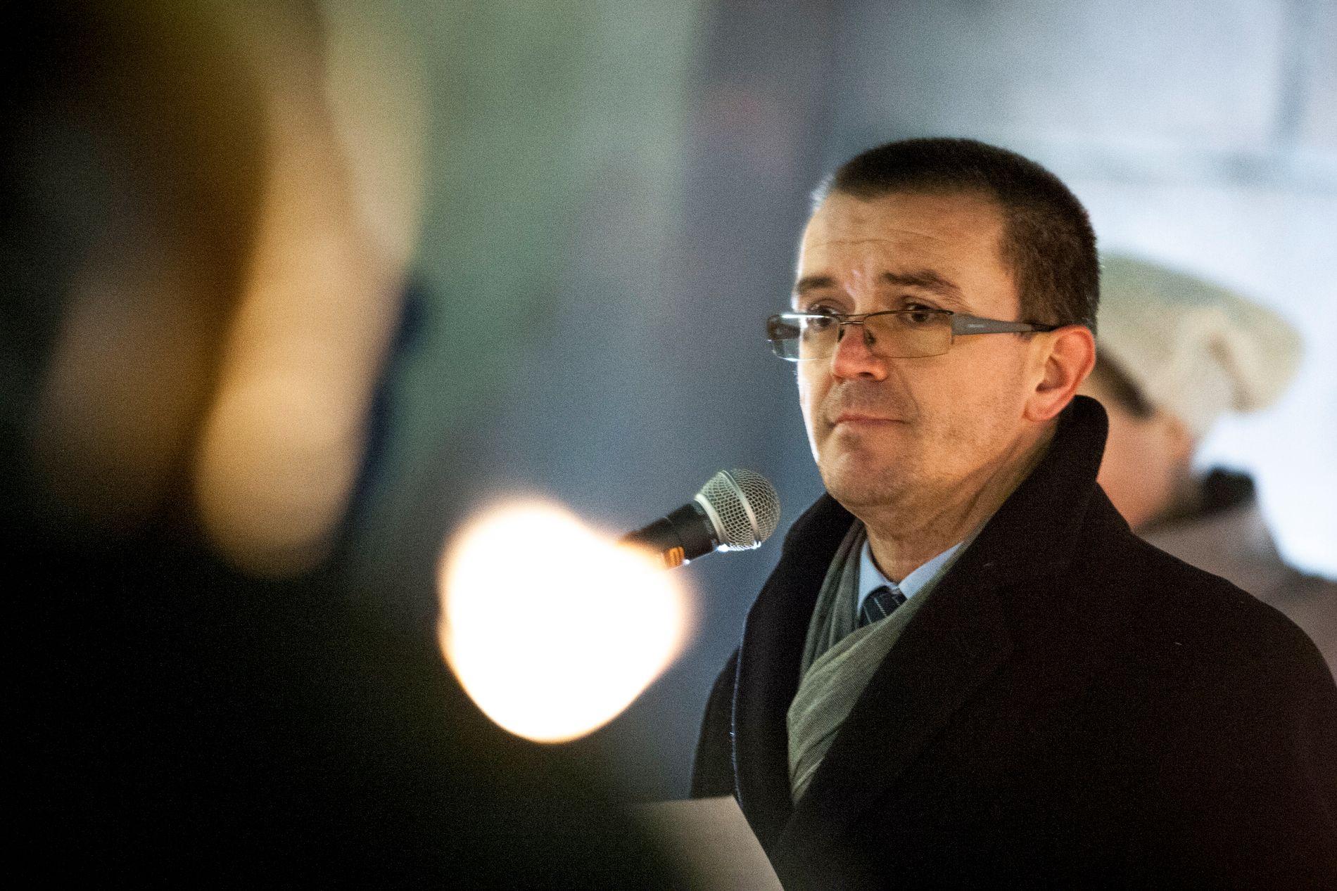 IMAM: Senaid Kobilica, her under en appell utenfor Stortinget.
