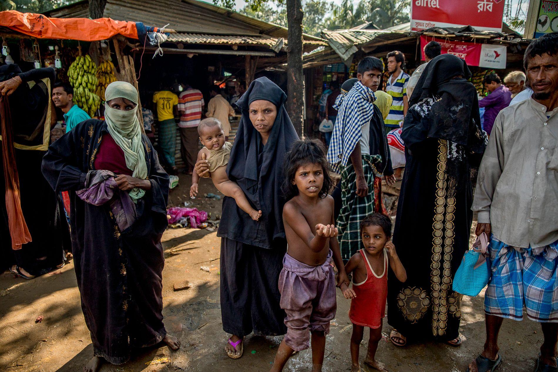 FLYKTET: Siden 25. august i år har nesten 700 000 mennesker flyktet fra delstaten Rakhine i Myanmar