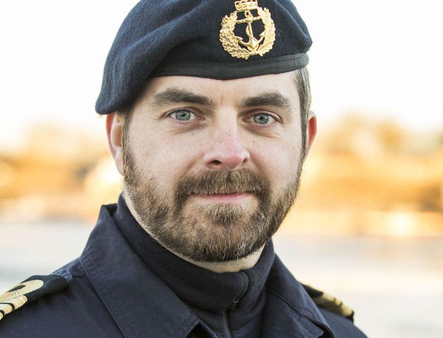 PRESSEOFFISER: Thomas Gjesdal i marinen hørte lørdag kveld samtalen før kollisjonen. - Det gjør inntrykk, sa han til VG.