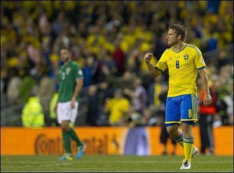 GIR SEG: Anders Svensson føler han har gjort nok for det svenske fotball-landslaget. Foto: PA Photos