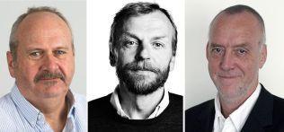 Fra v.: Jon Selås, VG; Kim Skotte, Politiken; Jens Peterson, Aftonbladet.