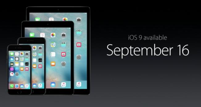 iOS 9 kommer veldig snart.